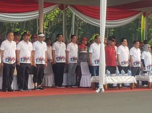 Kasum TNI Hadiri 18th Asian Games Parade