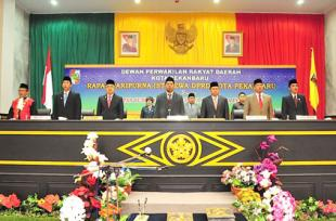 Pelantikan Anggota DPRD Kota Pekanbaru