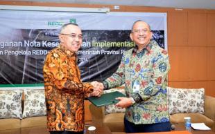 Pemprov Riau - BP REDD+ Teken MoU