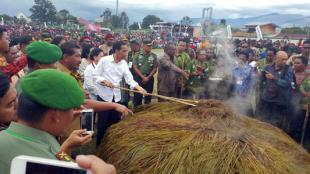 Panglima TNI Dampingi Presiden RI di Wamena