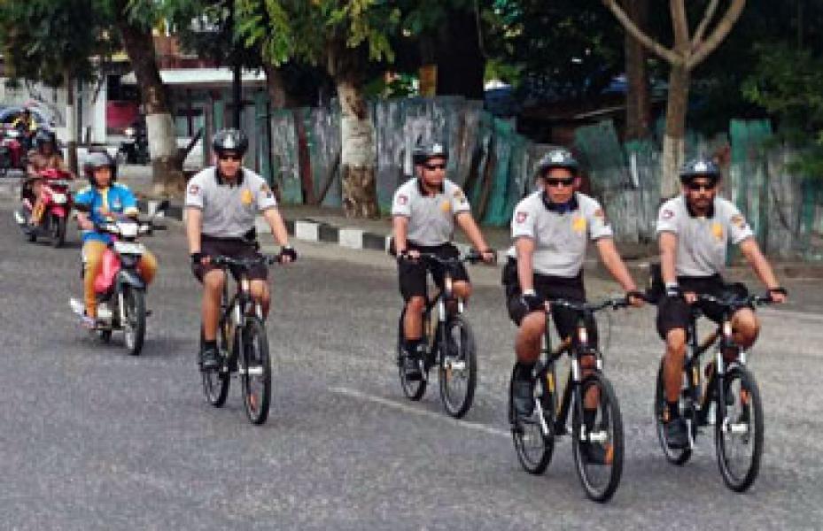 Polresta Pekanbaru Giatkan Patroli Sepeda