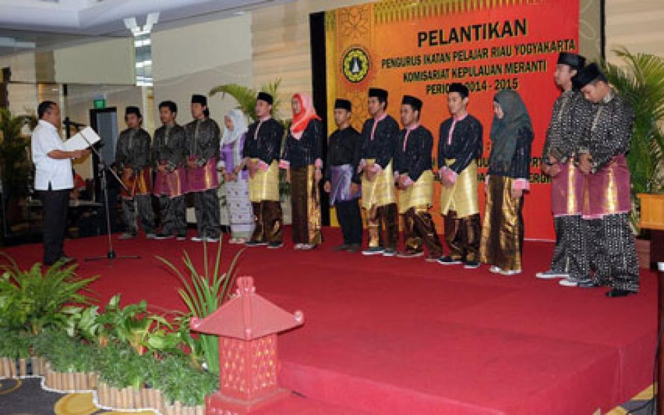 Bupati Lantik Pengurus IPRY KKM Jogjakarta Periode 2014-2015