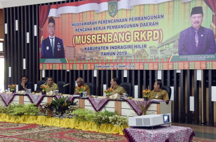 Pjs Bupati Inhil Secara Resmi Membuka Musrenbang RKPD Inhil Tahun 2019