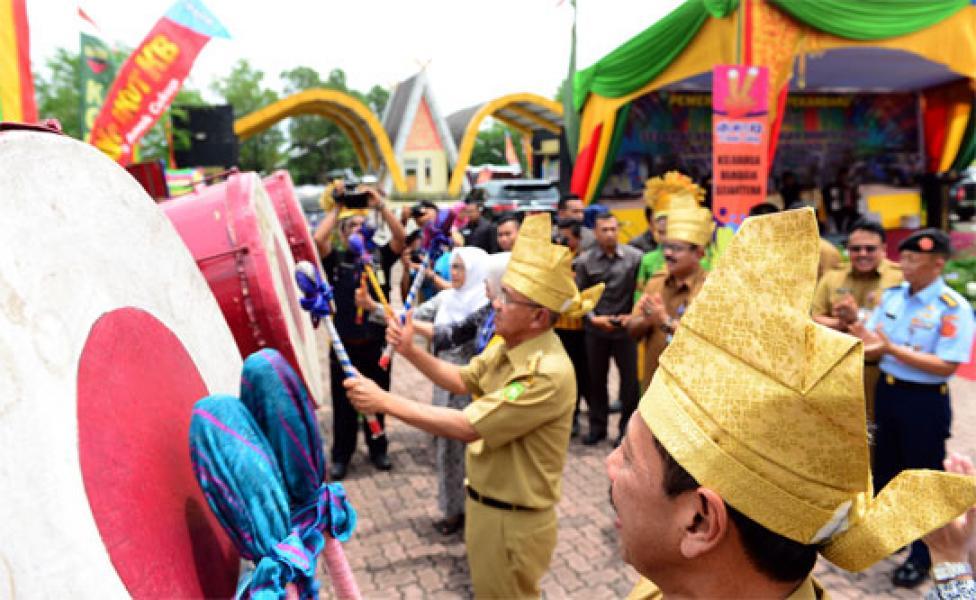 Gubri Buka Pencanangan Bhakti Sosial IBI KB-Kes Tingkat Provinsi Riau