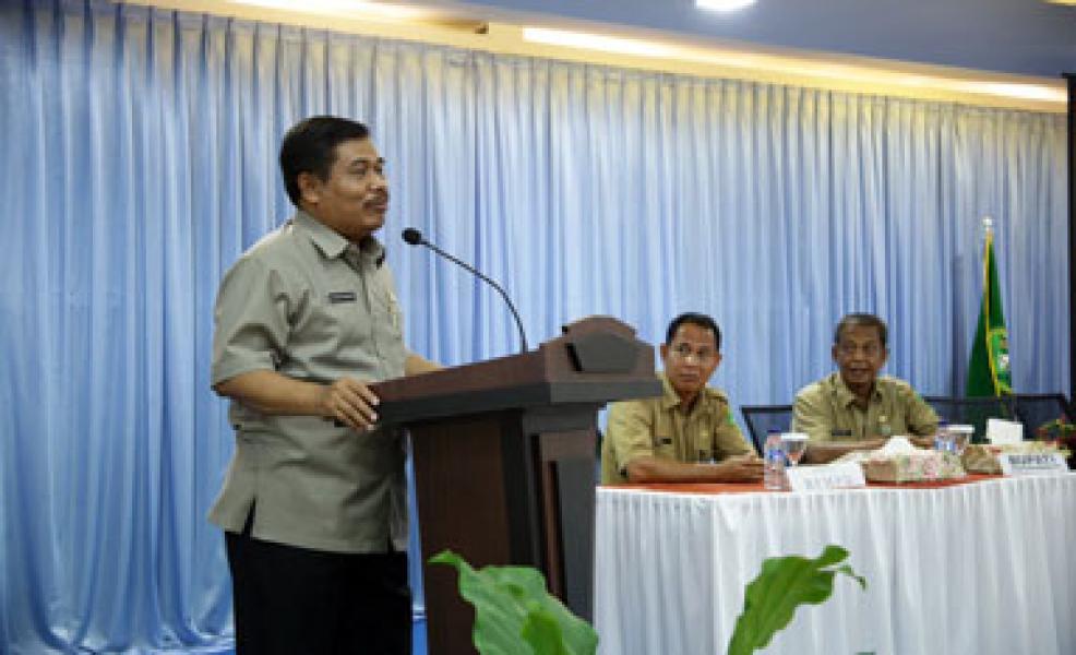 96 Kades di Meranti Ikuti Bimtek Pelaksanaan Program Pendapatan Desa