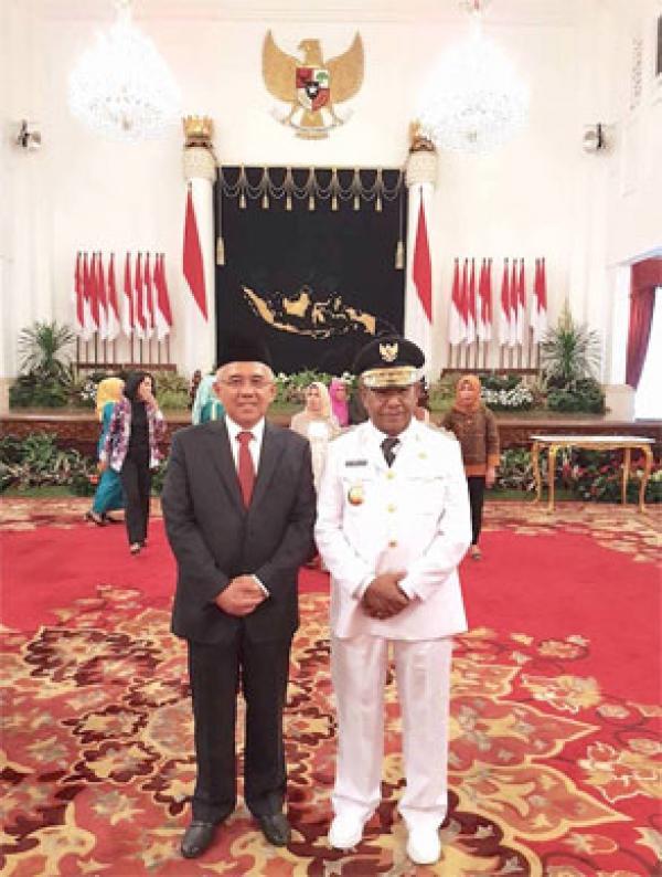 Dilantik Presiden Jokowi, H Wan Thamrin Hasyim Resmi Jadi Wagubri
