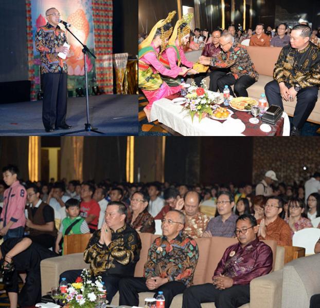 Gubri Hadiri Acara Dharmasanti Waisak 2561 BE Bersama Umat Buddha Pekanbaru