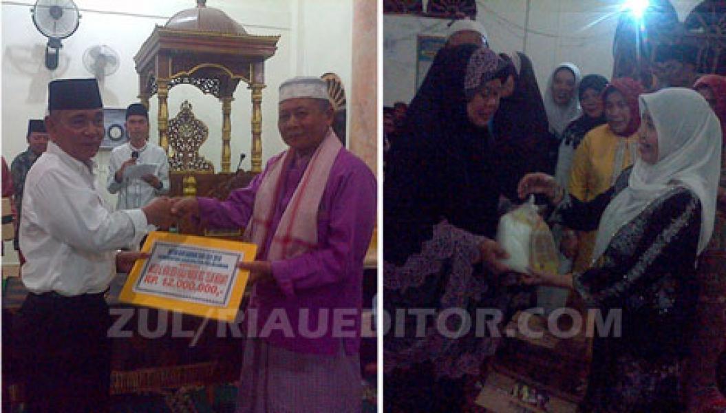 Bupati dan Ketua DPRD Safari Ramadhan Ke Teluk Meranti, Jamaah Tumpah Ruah