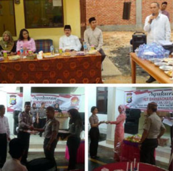 Syukuran HUT Bhayangkara Ke 69, 5 Personil Polres Pelalawan Terima Piagam Penghargaan