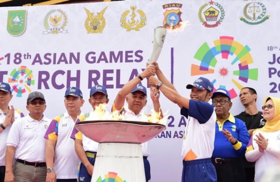 Kirab Api Obor Asian Games Bisa Jadi Semangat Atlet Riau