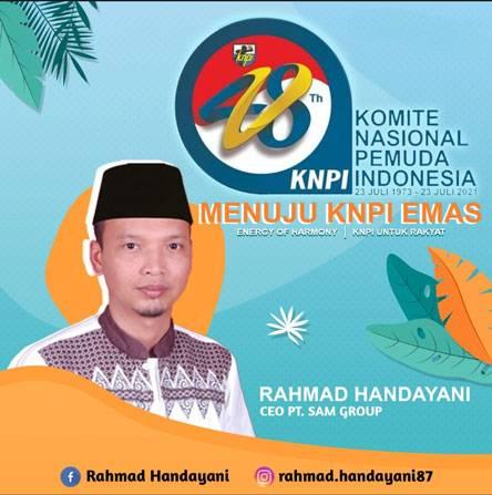 HUT KNPI ke-48, Rahmad Handayani: Saatnya Pemuda Bersatu untuk Rakyat