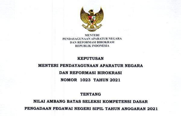 Kementerian PAN-RB Tetapkan Nilai Ambang Batas SKD Seleksi CPNS 2021