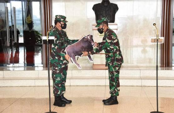 Panglima TNI Serahkan Hewan Qurban Secara Simbolis