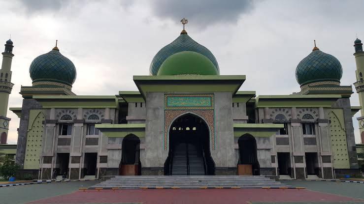 Masjid Raya An-Nur Pekanbaru Gelar Salat Idul Adha, Tetap Ikutin Prokes Jamaah Dibatasi