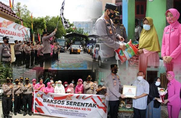 Di Hari Jadi Bhayangkara ke 75, Kapolresta Pekanbaru Bagikan 1.000 Paket Sembako