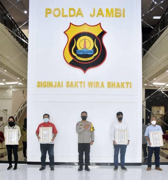 Terima Penghargaan dari Polda Jambi, JMSI Minta Penanganan Covid-19 Sinergis dan Transparan