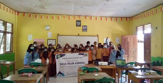 Tidak Hanya MDTA, Giliran SMPN 1 Tim Kukerta Balek Kampung UNRI Berikan Materi Belajar