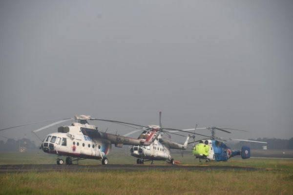 Bantu Padamkan Karhutla di Riau, BNPB Siapkan 6 Helikopter Water Bombing
