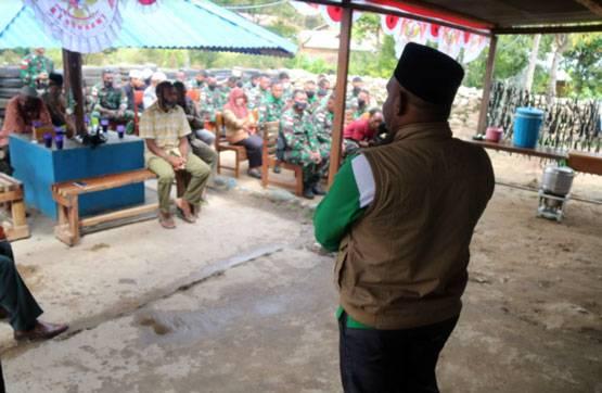 Satgas Pamrahwan Yonif RK 751/VJS Bersama Masyarakat Merayakan Hari Jadi Batalyon di Pegunungan Tengah Papua