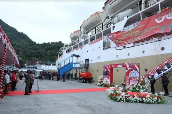 Panglima TNI Tinjau Isoter Terapung KM. Tidar di Jayapura