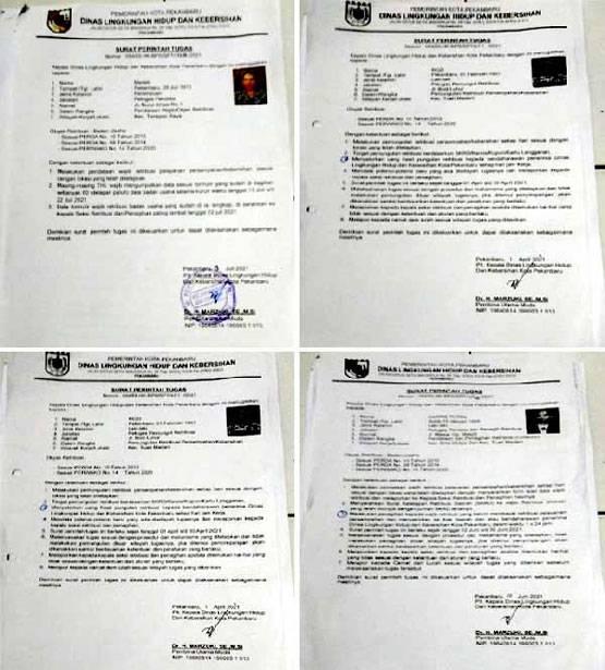 Beredar Surat Tugas Pemungut Retribusi Sampah, Laskar Merah Putih Minta Jaksa Periksa Plh Kadis DLHK Pekanbaru