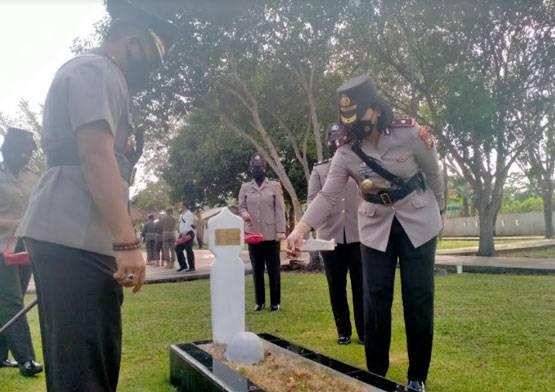 Hari Jadi Polwan Ke 73, Polres Bengkalis Laksanakan Apel Bersama