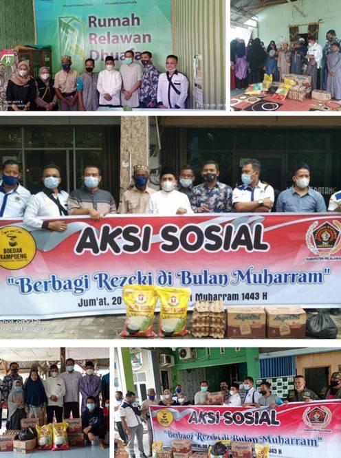 PWI Pelalawan Bersama Wabup Nasar Berbagi Rezeki di Panti Asuhan, Rumah Tahfidz dan Relawan Dhu'afa