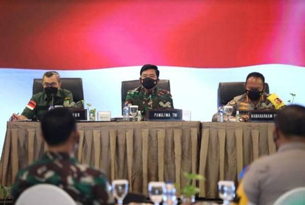 Panglima TNI: Kasus Terkonfirmasi Turun, Namun Riau Harus Tetap Cermati Data dan Dinamika Lapangan
