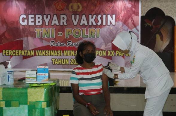 Pembukaan PON XX Semakin Dekat, Kodam XVII/Cenderawasih Gencarkan Vaksinasi Covid-19