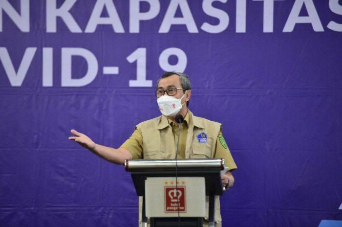 Gubri Syamsuar Buka Program Penggalangan dan Peningkatan Kapasitas Relawan Covid-19 Wilayah Pekanbaru