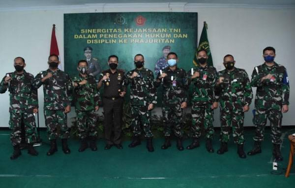 Sinergitas Kejaksaan dan TNI Optimalkan Penegakkan Hukum dan Disiplin Prajurit