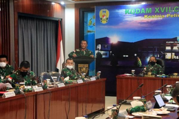 Tak Lama Lagi PON XX Dibuka, Pangdam XVII/Cenderawasih Pimpin Rapat Kesiapan Bersama Pejabat Kodam