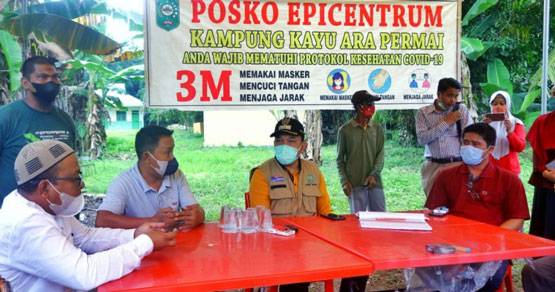 Wakil Bupati Husni Merza Tinjau Posko PPKM Level 4 di Kecamatan Sungai Apit