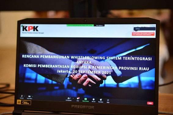 Bangun WBS Terintegrasi KPK-Pemprov Riau, Diharapkan Dapat Deteksi Dini Tindak Korupsi