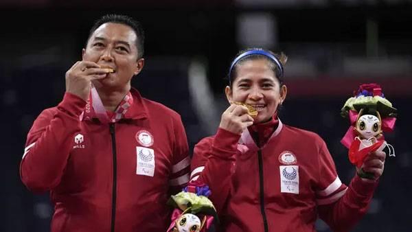 Profil Hary/Leani, Ganda Campuran Beda Generasi Peraih Emas Kedua di Paralimpiade Tokyo 2020