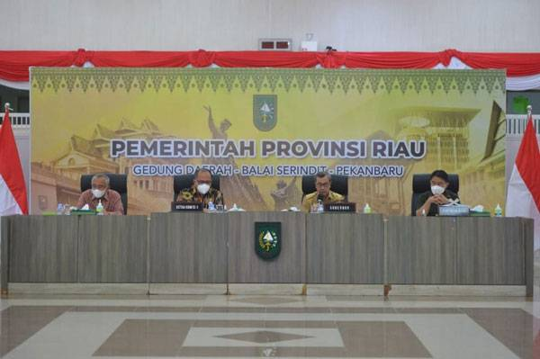 Bahas HGU, HGB dan HPL, Gubri Terima Kunker Komisi II DPR RI