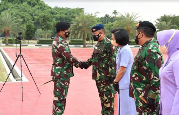 Panglima TNI Terima Laporan Korps Kenaikan Pangkat 60 Perwira Tinggi
