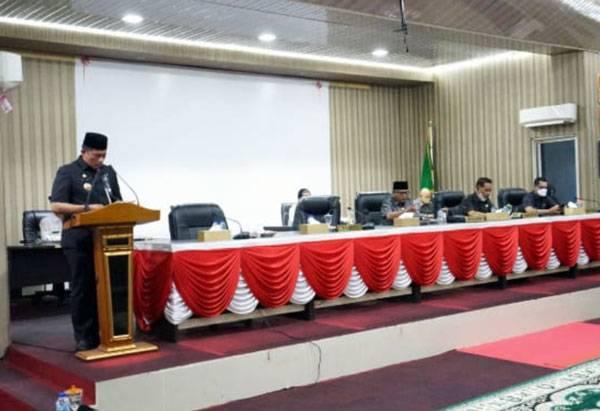 DPRD Kepulauan Meranti Laksanakan Sidang Paripurna Penyampaian Nota Keuangan RAPBD Perubahan 2021
