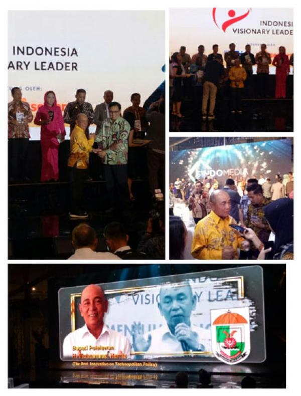 Bupati Pelalawan HM Harris Pemimpin  Visioner Dari Riau, Peraih The Best Innovation On Technopolitan Policy