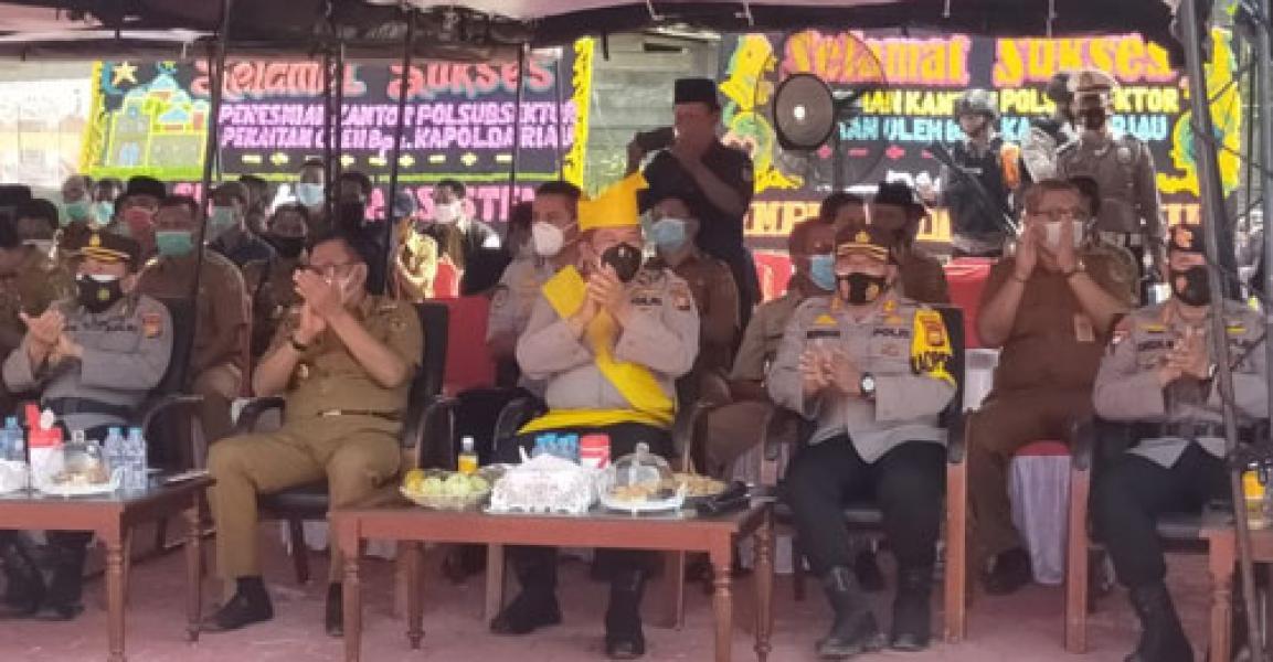 Resmikan Polsubsektor Pekaitan, Wakapolda Riau: Layani Masyarakat Sepenuh Hati