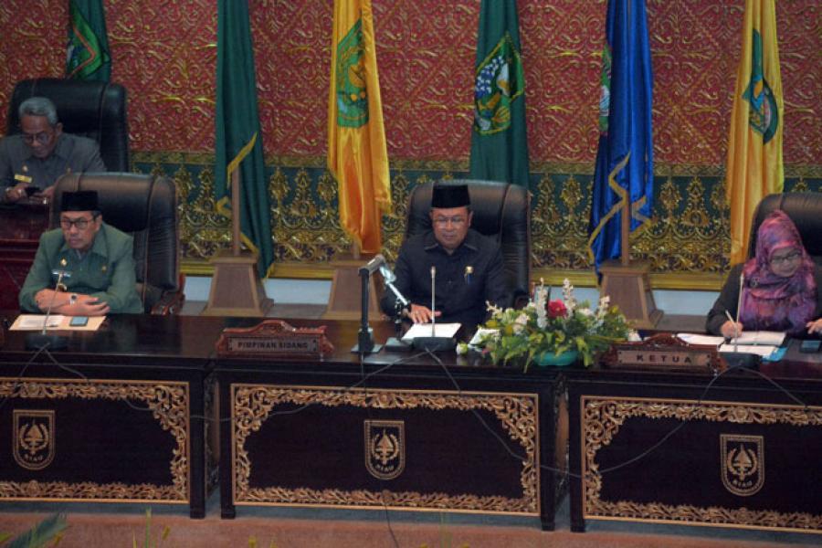 Gelar Paripurna, DPRD Riau Sampaikan Hasil Kerja Pansus