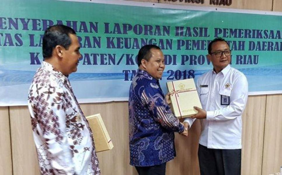 Raih 7 Kali WTP, Pemkab Meranti Penerima LHP BPK RI Pertama di Riau