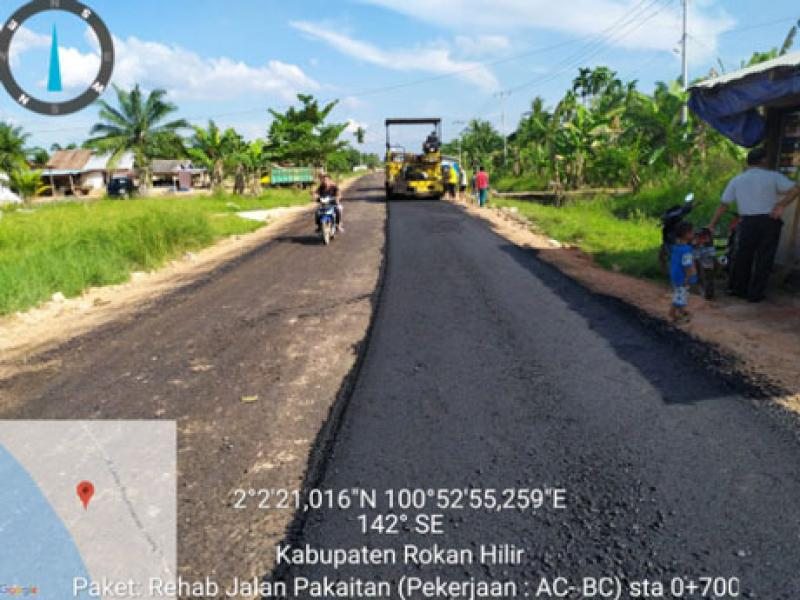 Pemkab Rohil Gencar Bangun Infrastruktur Hingga Kepelosok Desa