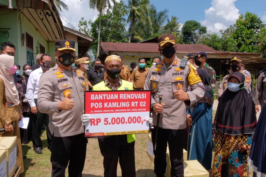 Kapolda Riau: Posko PPKM Wujud Negara Hadir di Masyarakat Ujung Tombak Penanganan Covid-19.