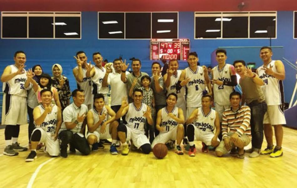 Tim Bola Basket TNI AU Juara III Adhyaksa Cup 2018