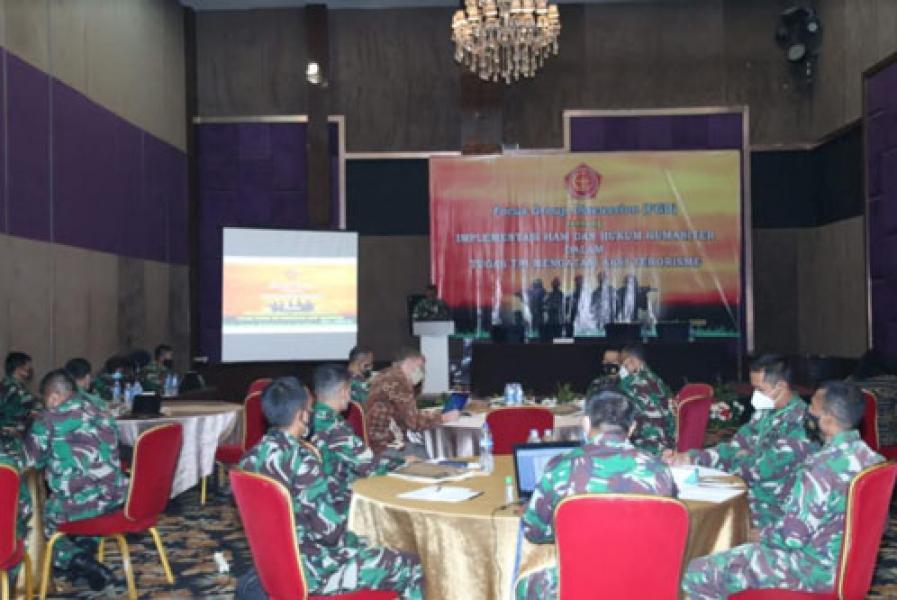 Babinkum TNI Gelar FGD Implementasi HAM dan Hukum Humaniter
