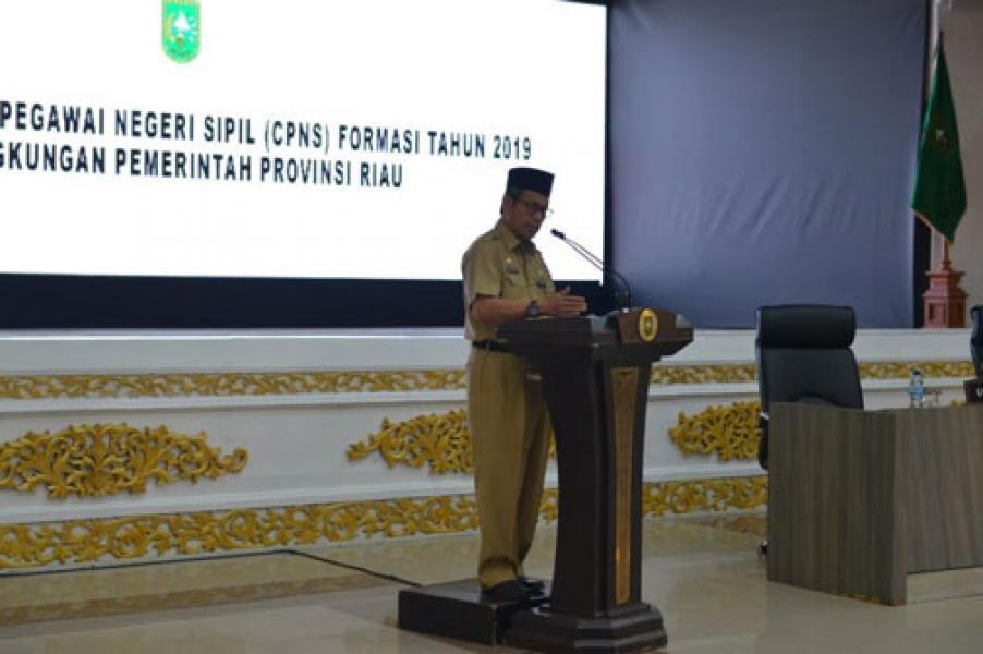 Plh Sekdaprov Riau Buka Secara Resmi Pembekalan CPNS Tahun 2019
