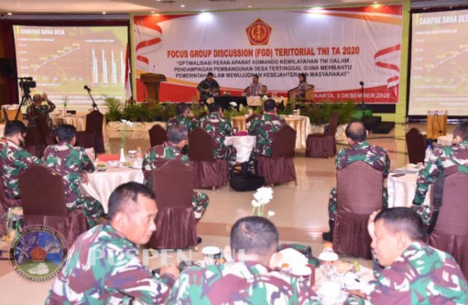 Staf Teritorial TNI Selenggarakan FGD dengan Aparat Komando Kewilayahan